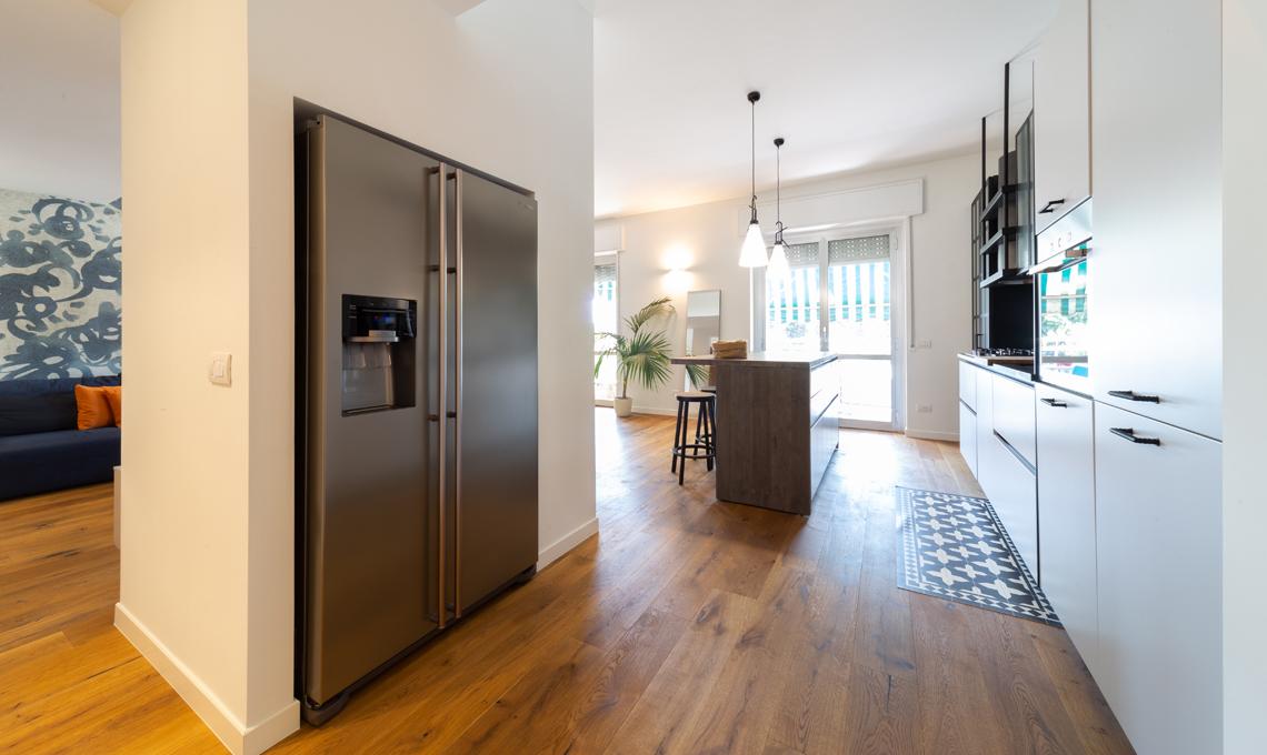parete cartongesso in cucina