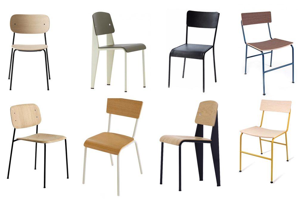 Sedute ispirate alle sedie da scuola vintage