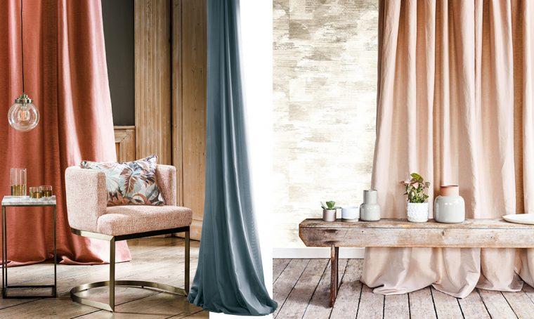Arredare casa con le tende a contrasto