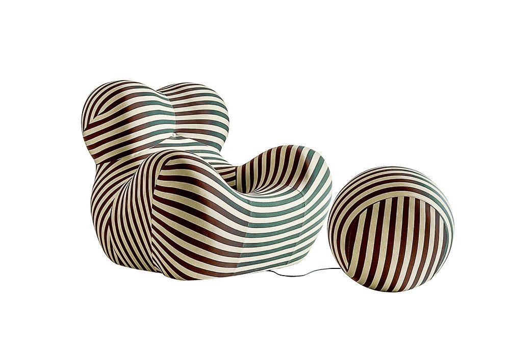 Icone del design: la poltrona con pouf serie UP5 e 6