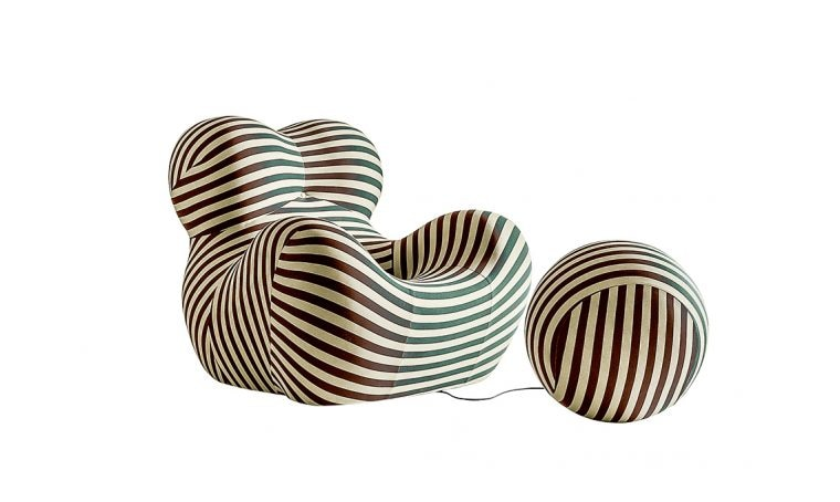 Icone del design: la poltrona con pouf serie UP5 e 6