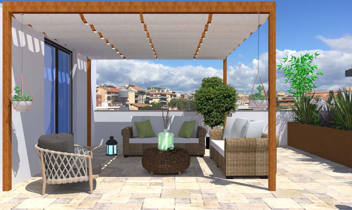 Un terrazzo, quattro stili.