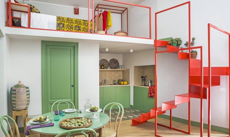casa verde e rossa etnica