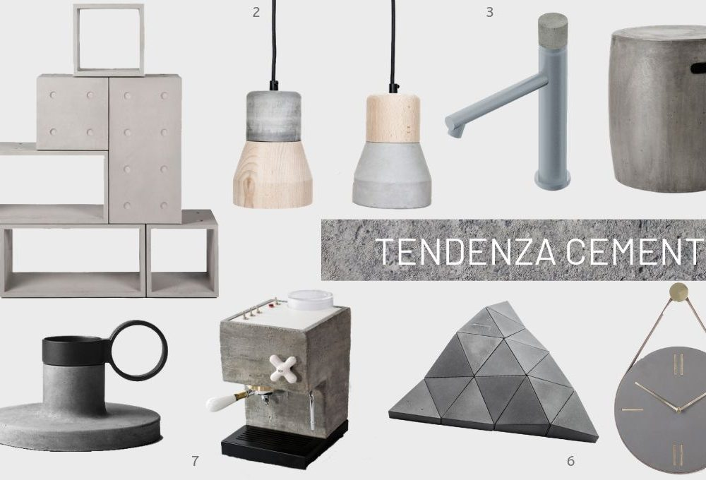 Tendenza cemento: : 8 idee shopping