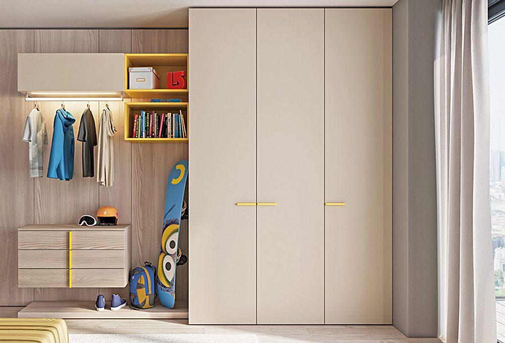 Camerette: scegli l'armadio ideale in base all'età