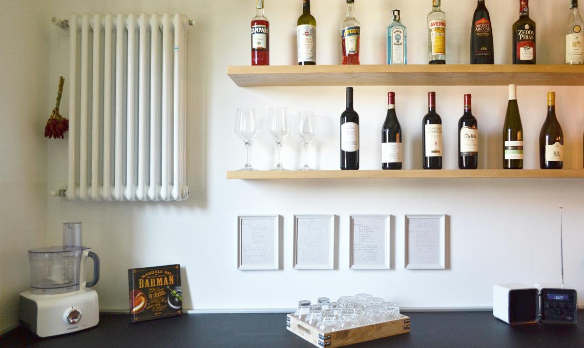 mensole per bottiglie vino