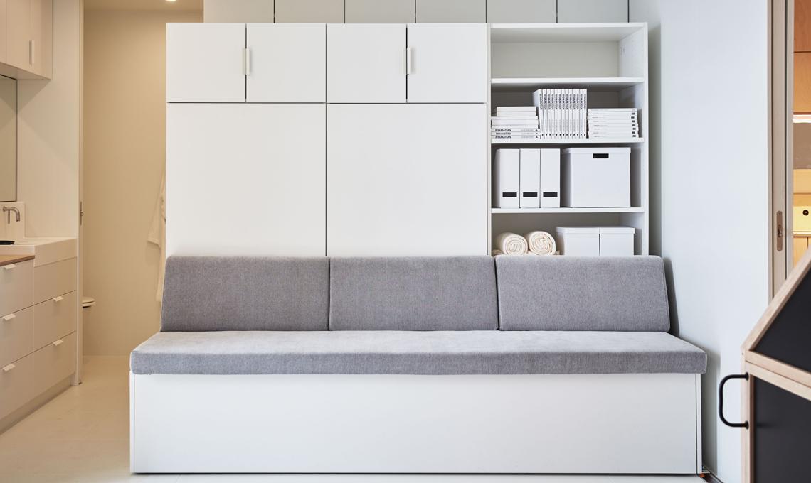 Letto A Scomparsa Verticale Ikea.Ikea Presenta La Parete Robotica Che Regala 8mq In Piu Casafacile