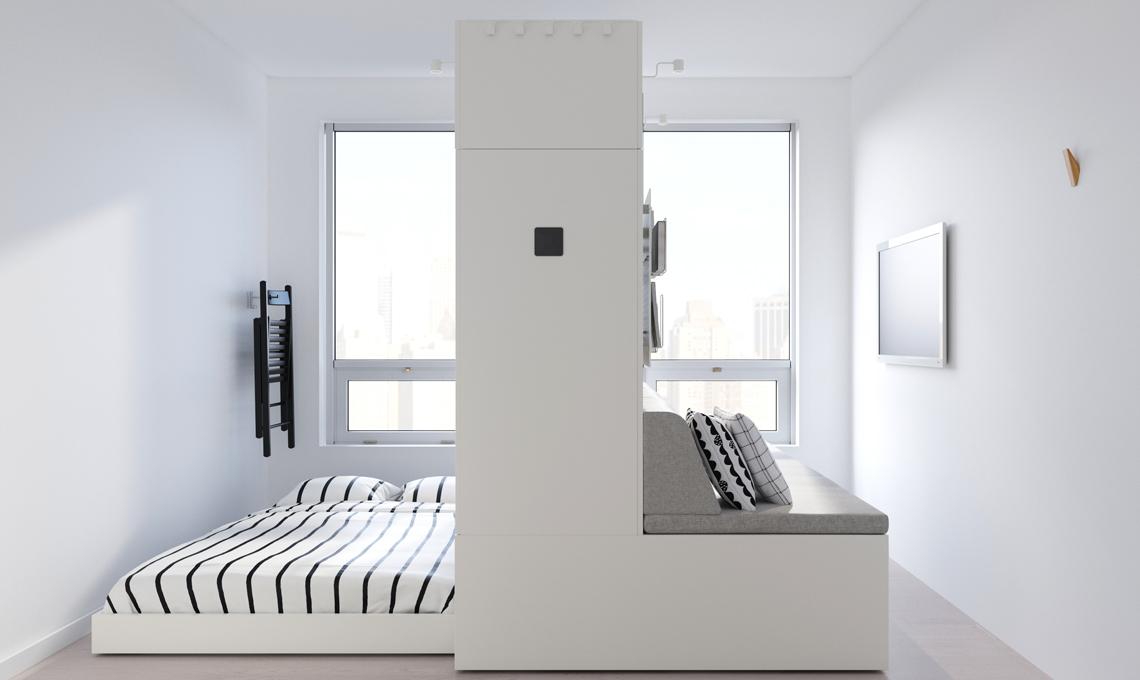 Parete Letto A Scomparsa.Ikea Presenta La Parete Robotica Che Regala 8mq In Piu