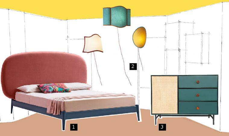 3 ispirazioni per una camera da letto in stile rétro