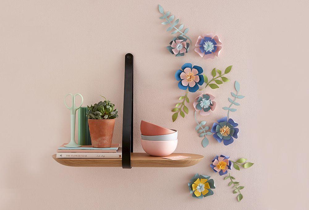 Paper art: decorare la parete con i fiore
