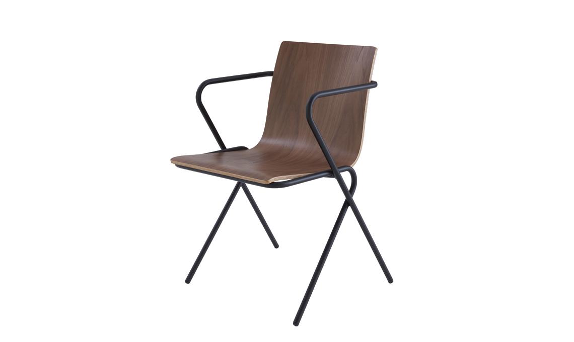 sedia legno metallo