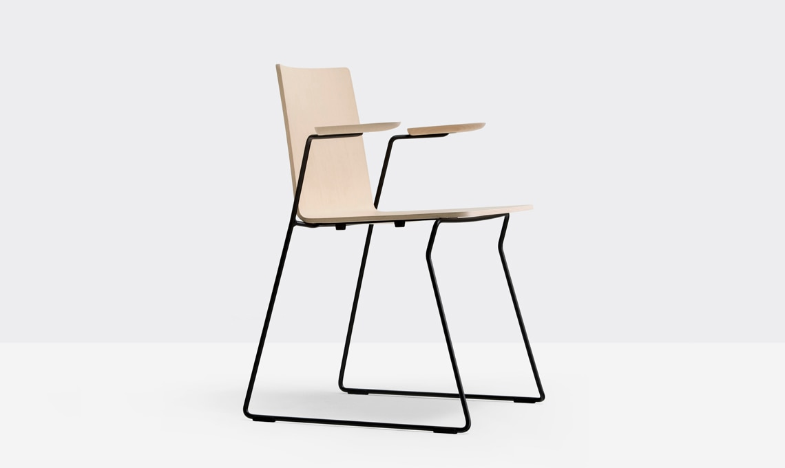 sedia legno metallo pedrali