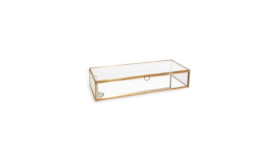 portagioie vetro e metallo