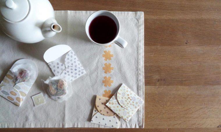 Realizza le bustine per il tè in carta da acquerello