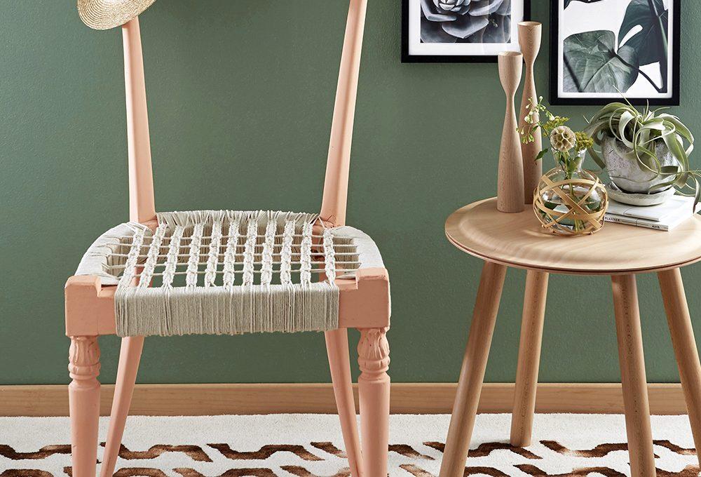 Come si recupera la sedia realizzando una seduta in macramè