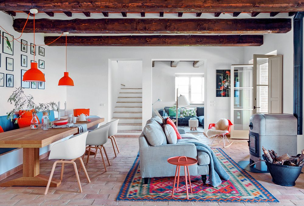 Casale in Umbria in stile country nordico