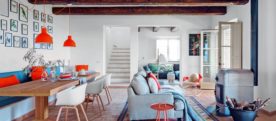 Casale in Umbria in stile country nordico