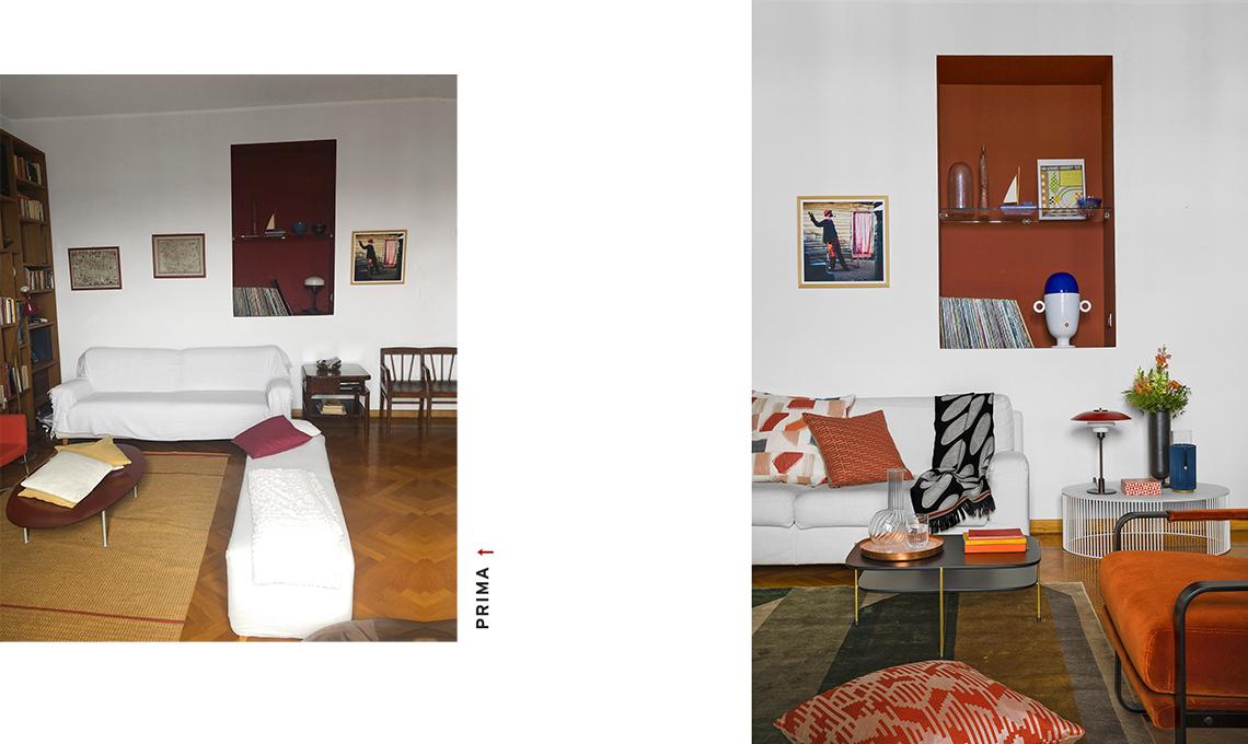 casa prima e dopo salotto