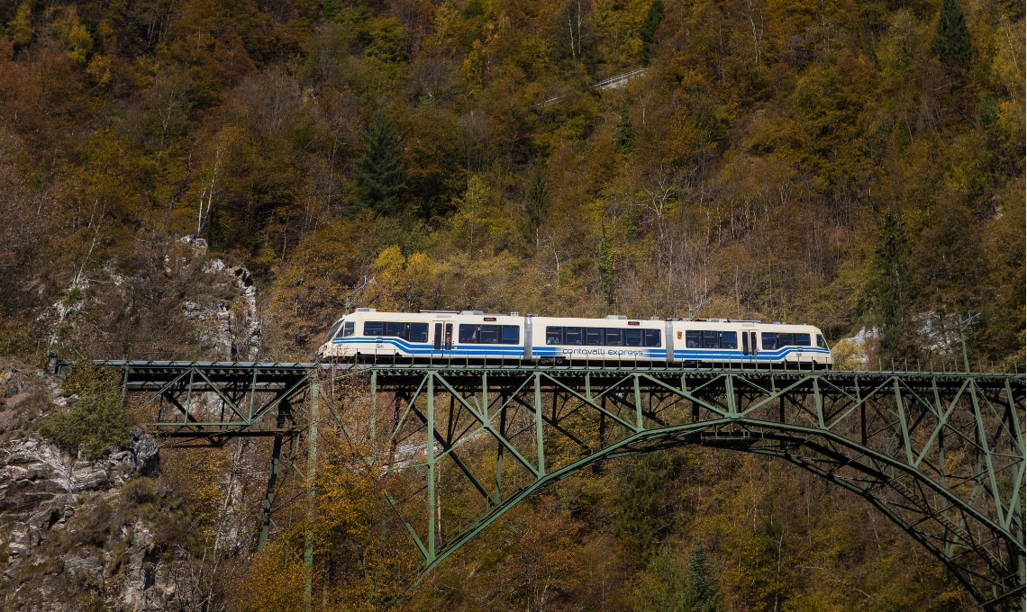 treno del foliage per vedere i colori dell'autunno