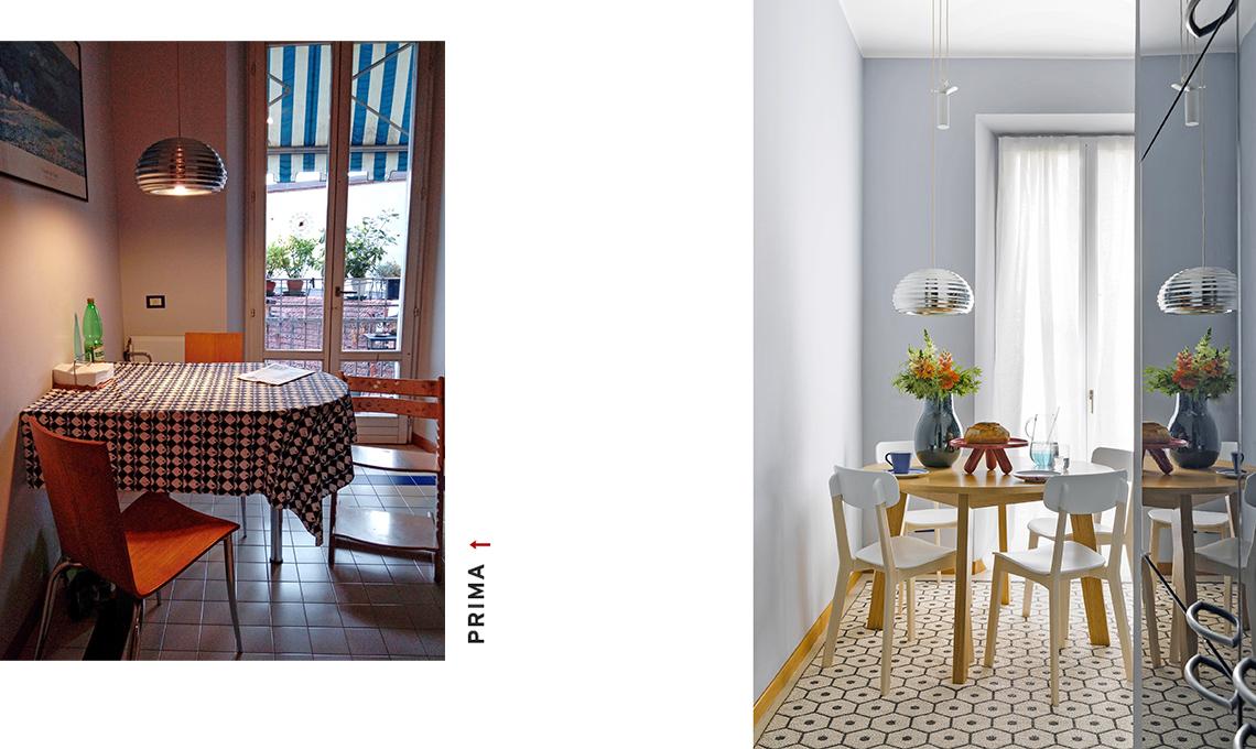 casa prima e dopo pranzo