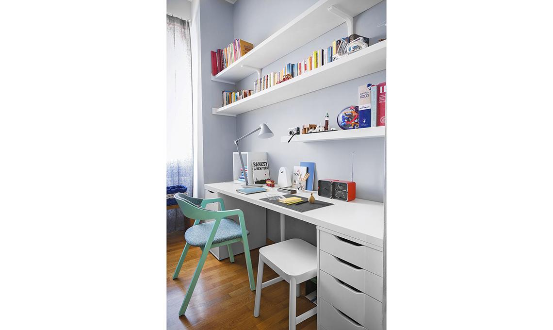 casa prima e dopo scrivania