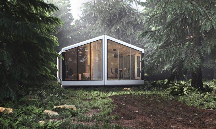 La casa prefabbricata è stampata in 3D