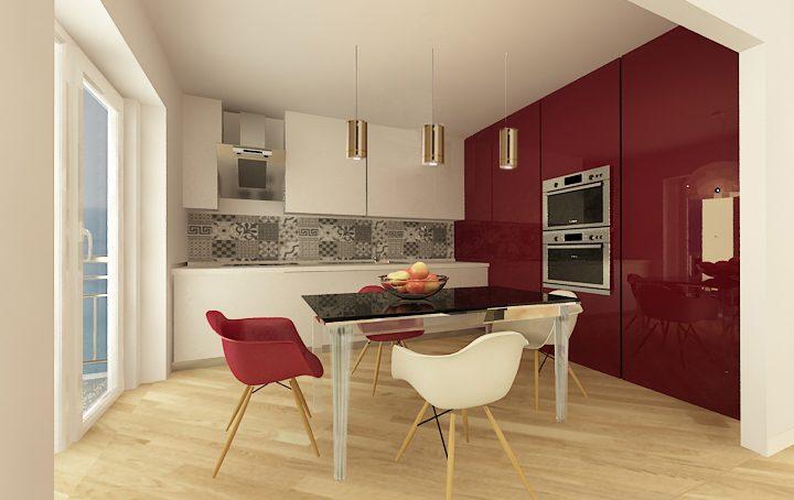 Dividere soggiorno e cucina con la parete scorrevole