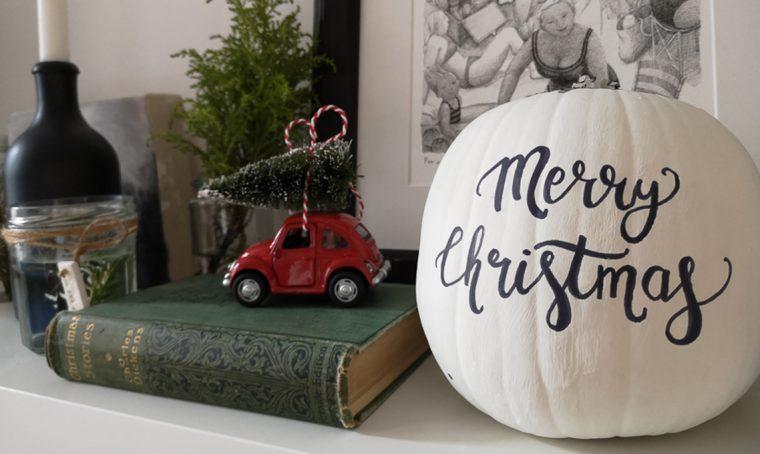 Riutilizza le zucche come decorazione per Natale