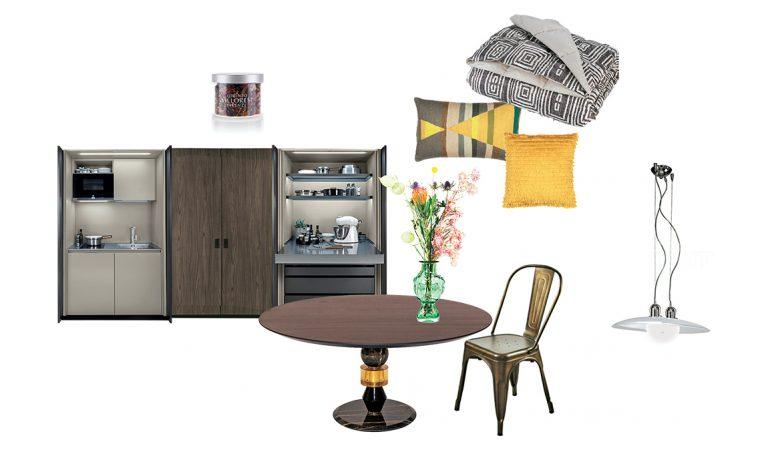 Soggiorno e cucina in stile moderno