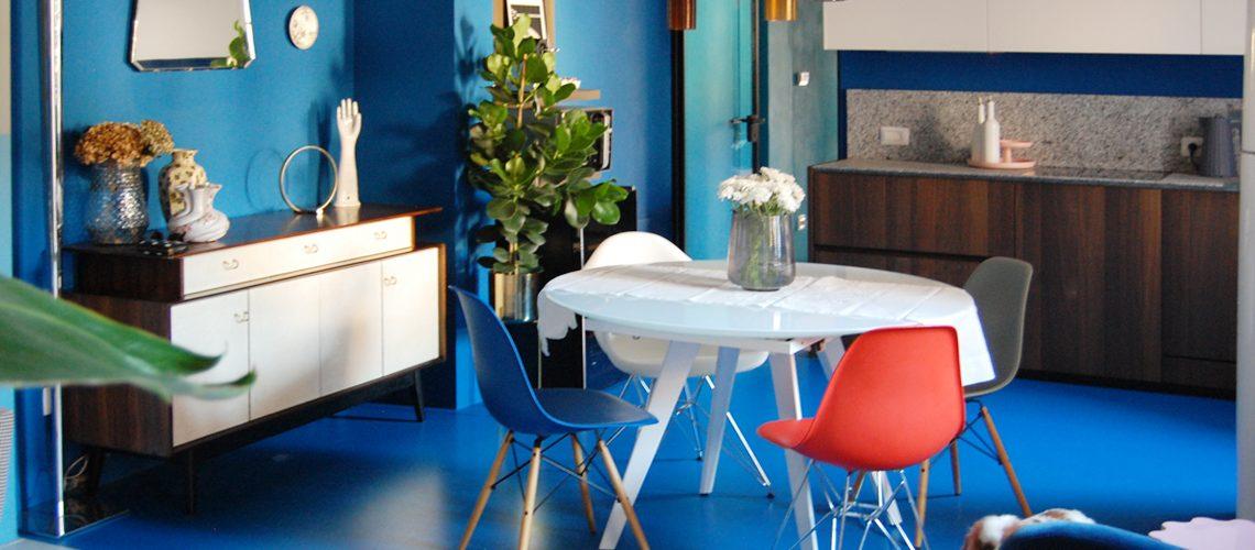 Dall'unione di due appartamenti nasce la casa di un'artista