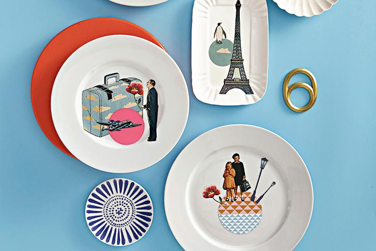 Collage: come realizzare i piatti decorativi