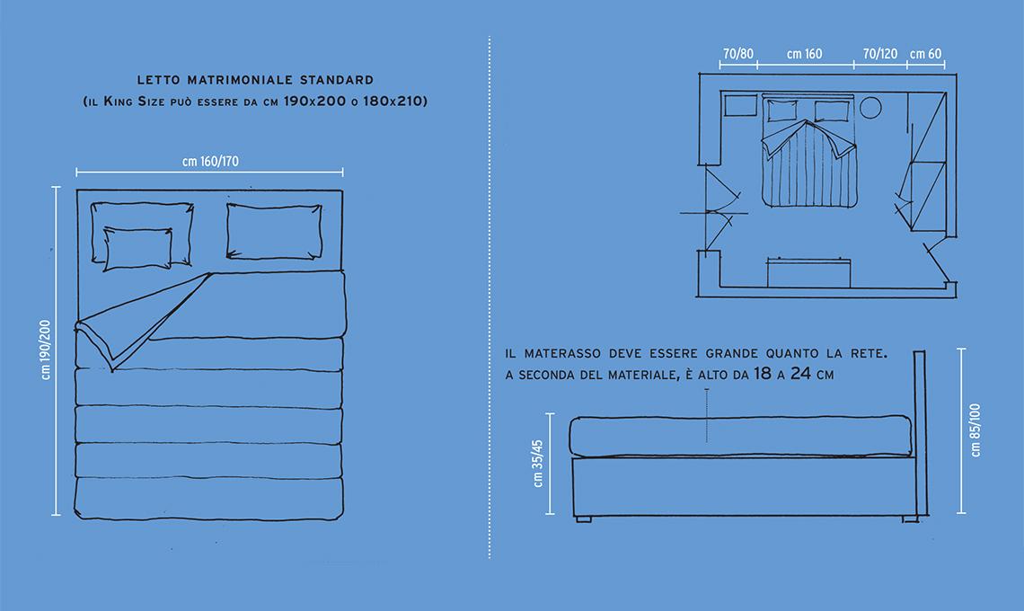 Misure Materassi Standard.Misure Letti Lenzuola Coperte E Piumini Casafacile