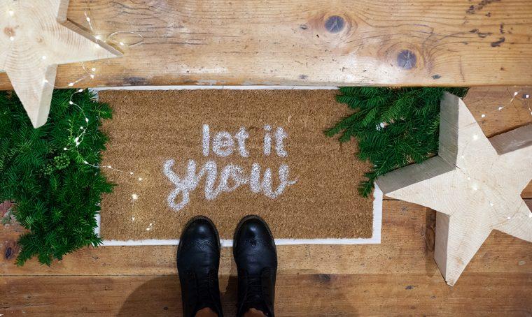 Come personalizzare lo zerbino per Natale