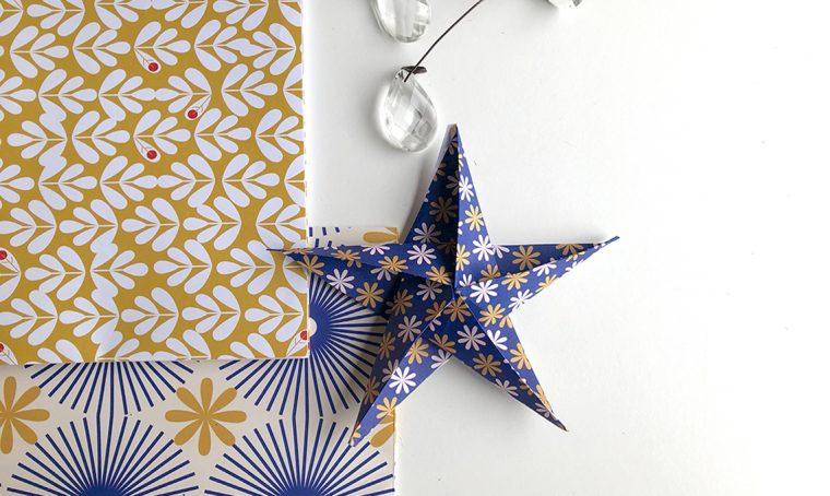Crea le stelle origami con la carta delle Décor Box di CasaFacile
