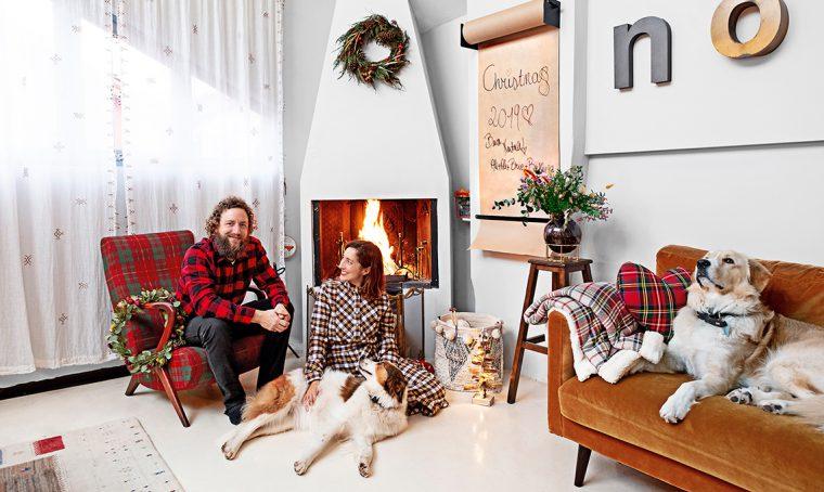 Una casa trasformista per un Natale festoso e dallo spirito gipsy