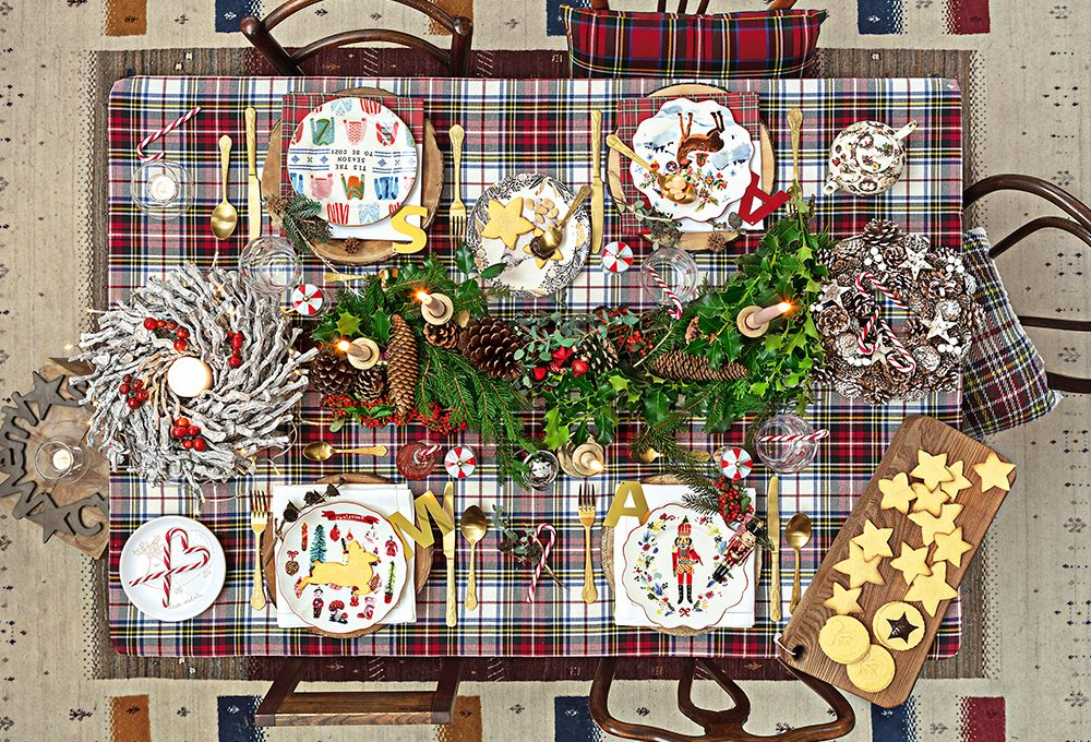 Natale: mise en place in stile country-folk