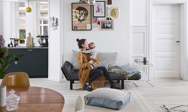 Atmosfera avvolgente per l'appartamento in stile scandinavo
