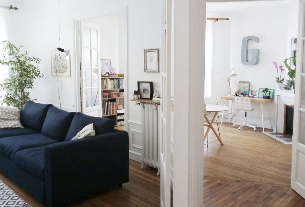 Un appartamento pieno di luce a Parigi