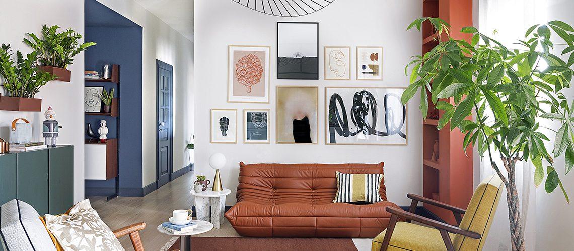 Geometrie di colore per valorizzare gli arredi vintage e di design