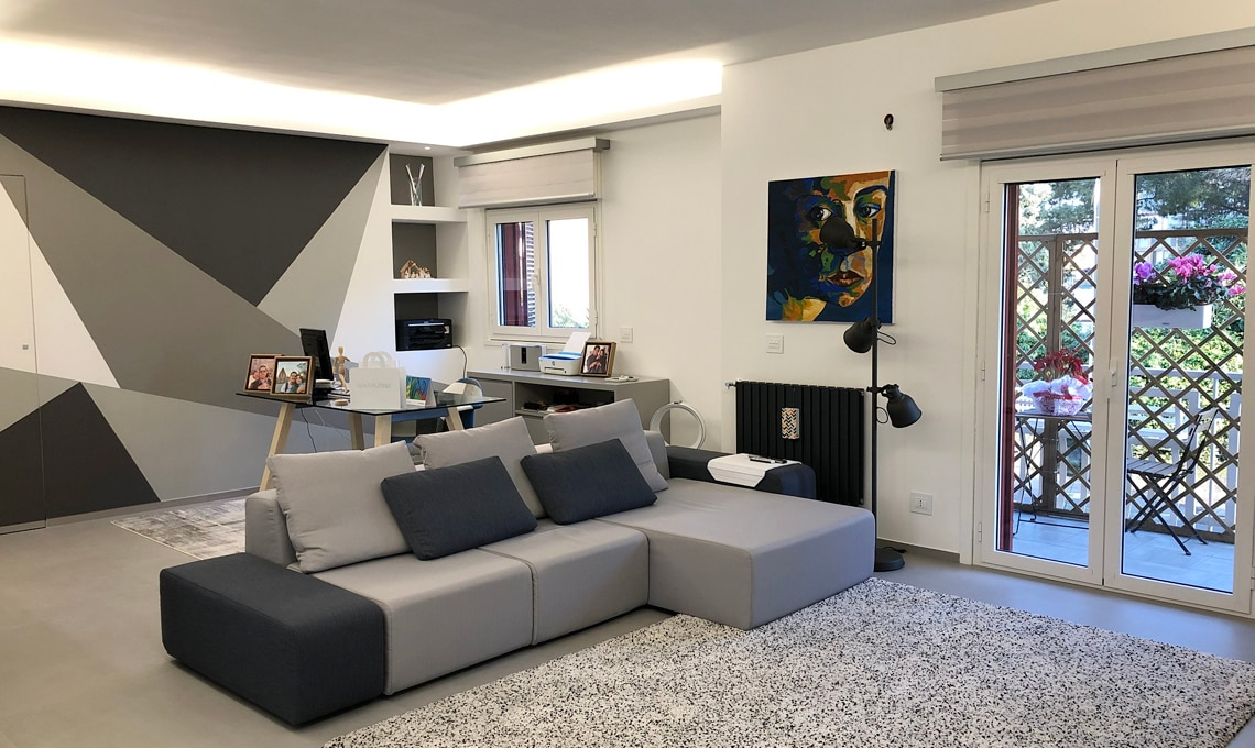 Una casa moderna ed efficiente grazie alla struttura in