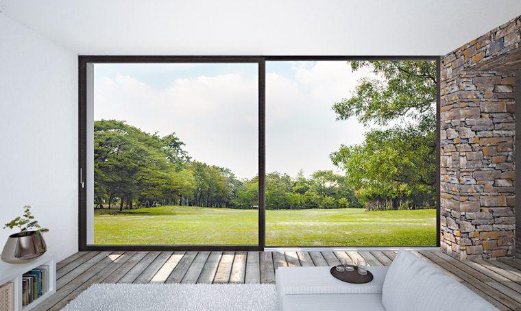 Serramenti sottili e vetri extra chiari per far entrare più luce naturale