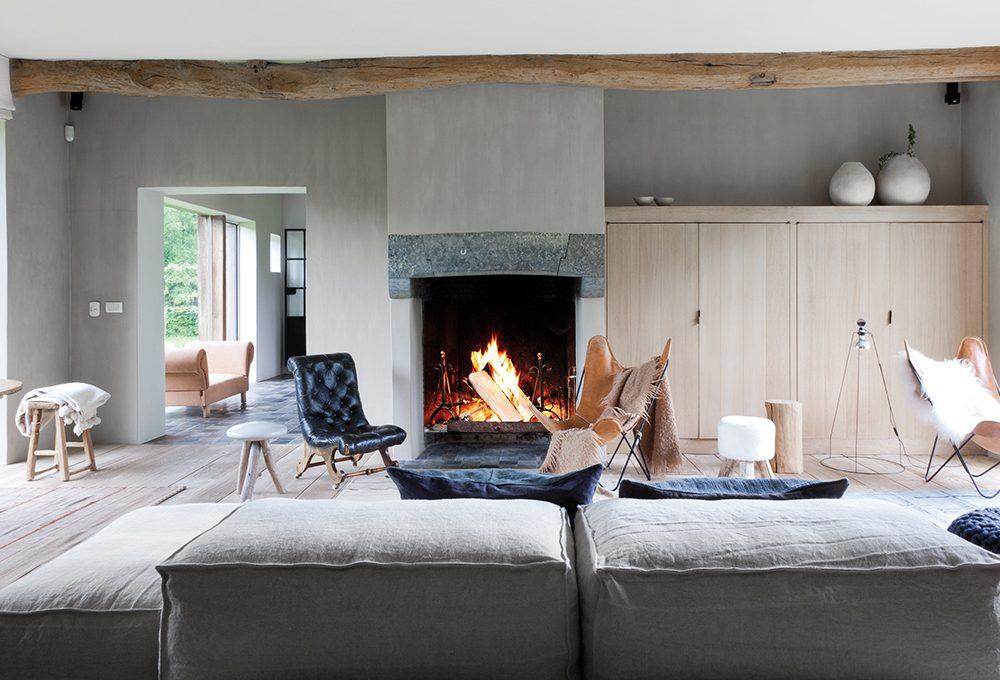 Stile rustico e gusto nordico per arredare il soggiorno
