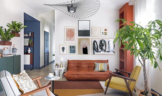 Geometrie di colore valorizzano un appartamento di Catania
