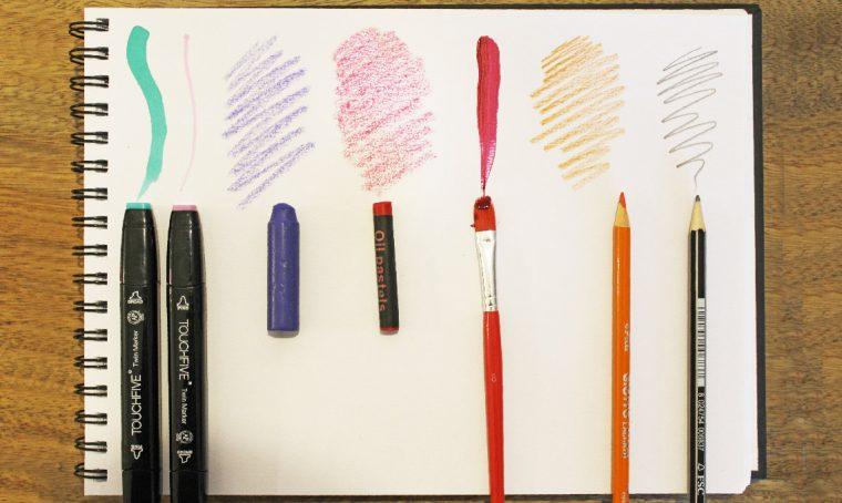 Dipingere e disegnare a casa: materiali e colori