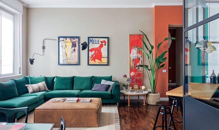 La casa milanese rinasce grazie ai colori di Le Corbusier