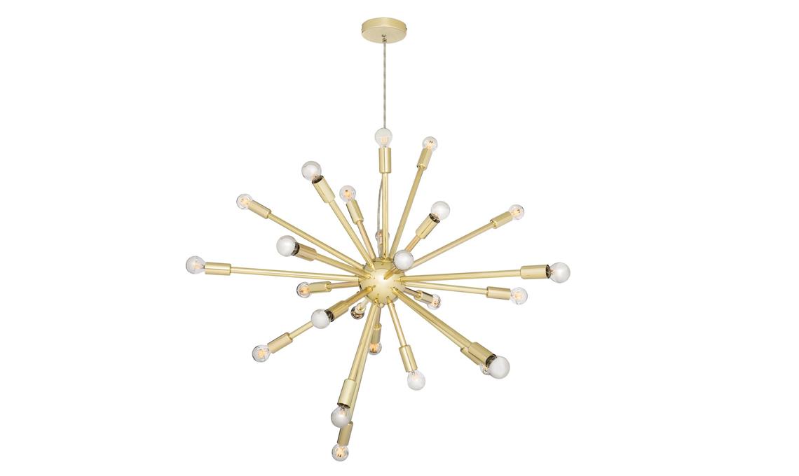 lampadario moderno dorato