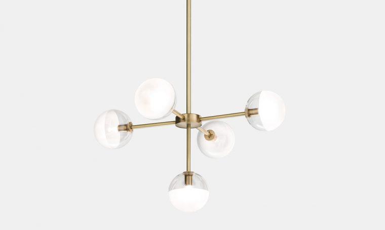 Lampadari moderni in vetro e ottone