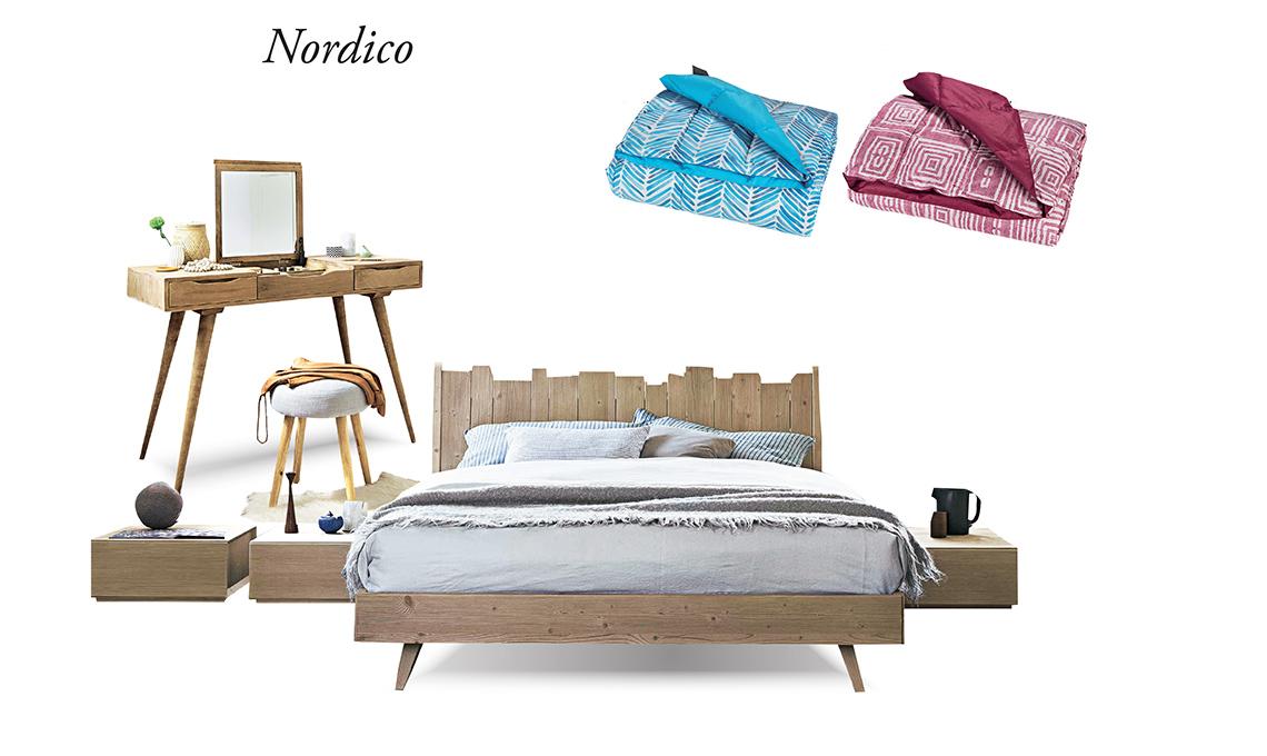 letti e tessili per la camera da letto