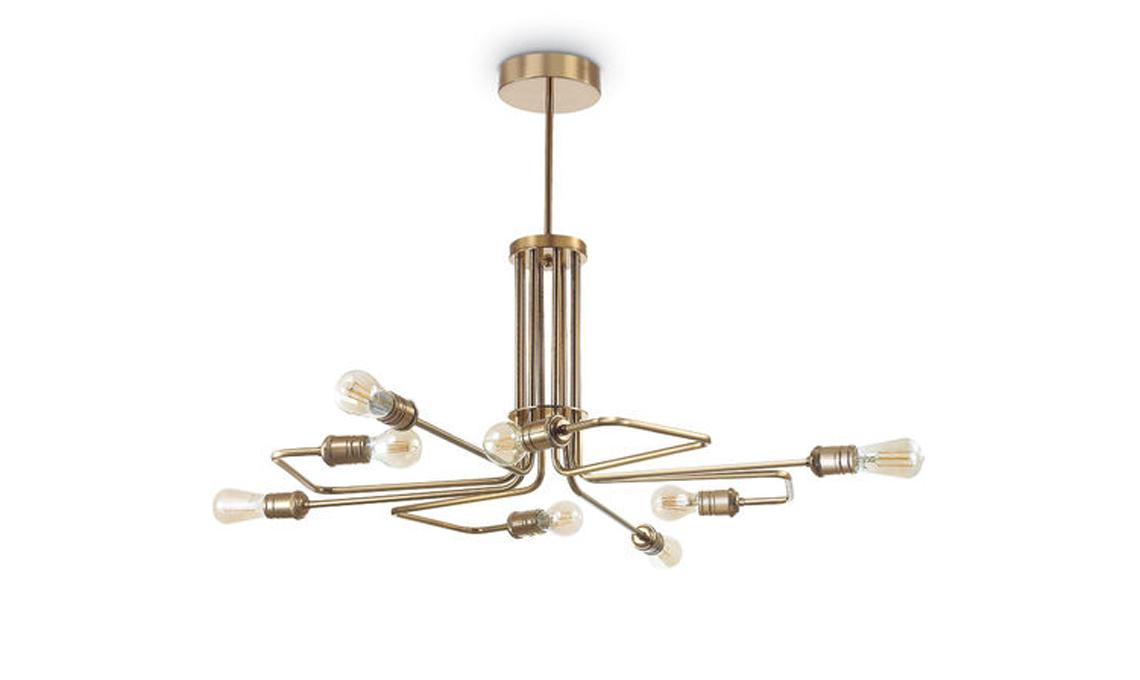 lampadario moderno ottone