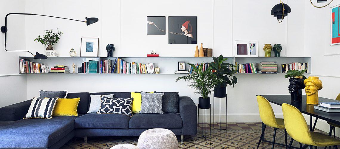Recupero storico di un appartamento per uno stile giovane e contemporaneo
